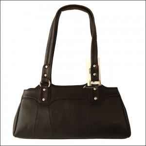 Black Genuine Cow Leather Women's Handbag Shoulder Bag Purse