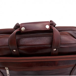 ZINT Genuine Leather Handmade brown Messenger Office Laptop Bag