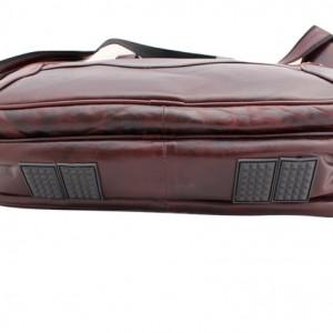 ReaL Leather Brown Portfolio Messenger Laptop Briefcase Bag