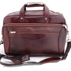 Genuine Leather Handmade brown Messenger Office Laptop Bag