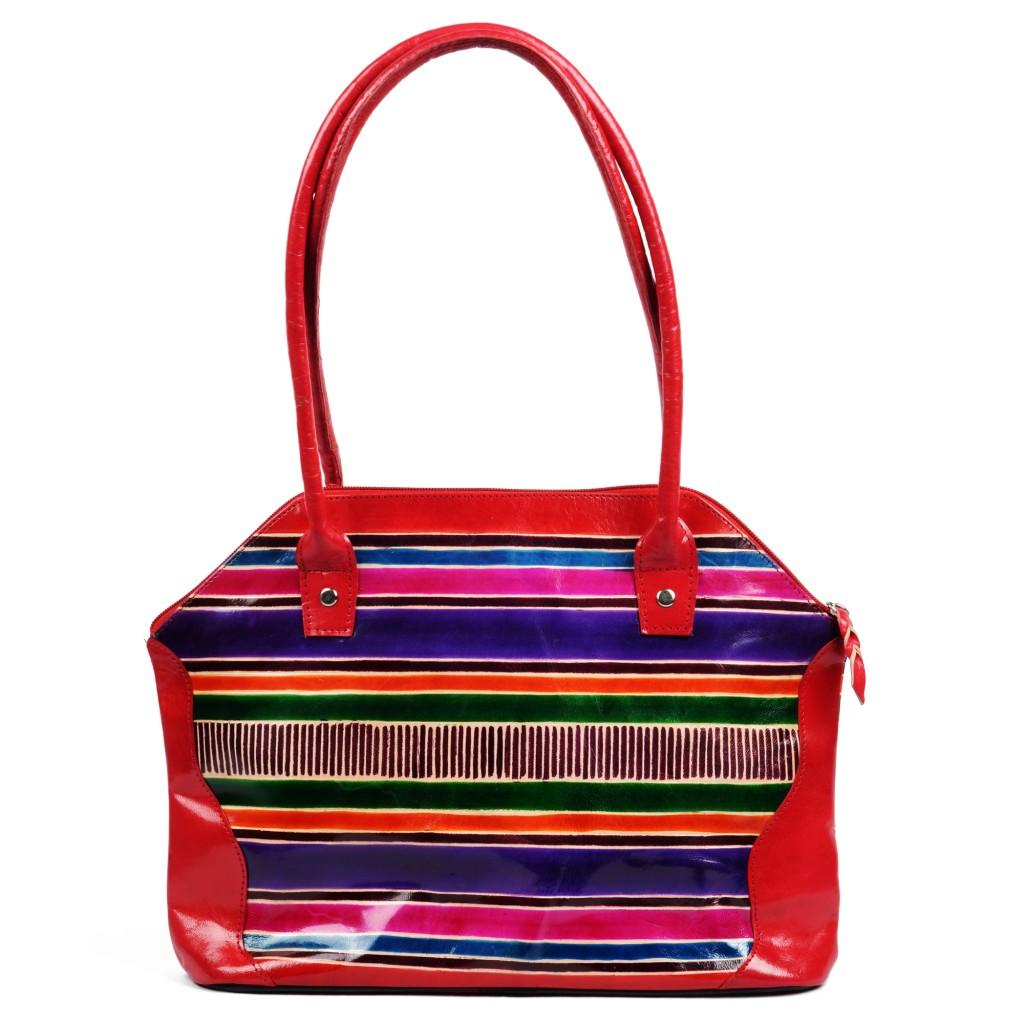 Handmade, Painted Genuine Leather Shantiniketan Bag