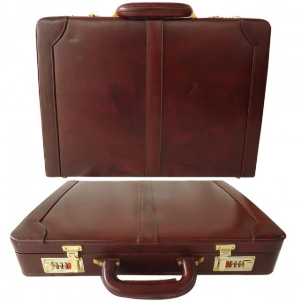 Genuine Leather Hard Briefcase