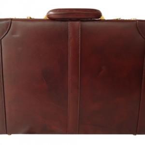 Zint Genuine Leather Handmade Hard Briefcase
