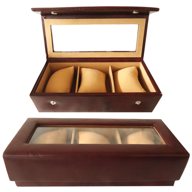 Travel Watch Case handcrafted from genuine leather