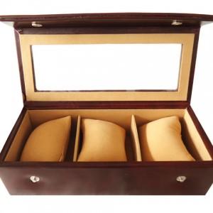 Zint Genuine Leather 3 Slot Watch Case