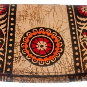 Batik Indian Shantiniketan Leather Wallet