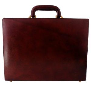 ZINT Handmade Genuine Leather Hard Briefcase