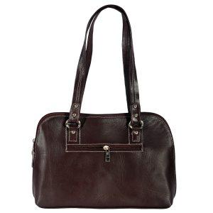 ZINT India Genuine Leather Solid Design Bag