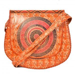 ZINT India Shantiniketan Genuine Leather Mandala Batik Design Crossbody Bag