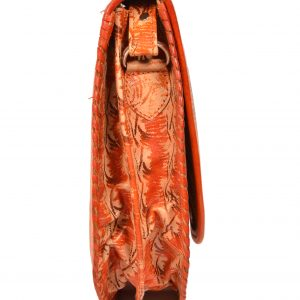 ZINT India Shantiniketan Genuine Leather Batik Design Crossbody Bag