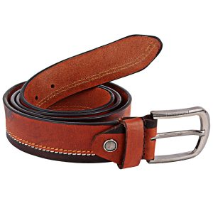 ZINT Genuine Leather Side Padding Design Belt