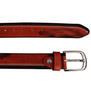 ZINT Genuine Leather Side Padding Design Belt