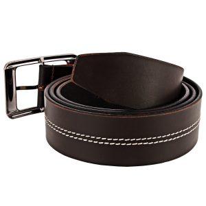 ZINT Genuine Leather Stiching Design Belt
