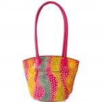 Handcrafted Genuine Leather Pink Shantiniketan Boho Bag