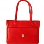 Genuine Leather Red Handmade Shoulder Bag Ladies Purse Women's Handbag Tote Bag