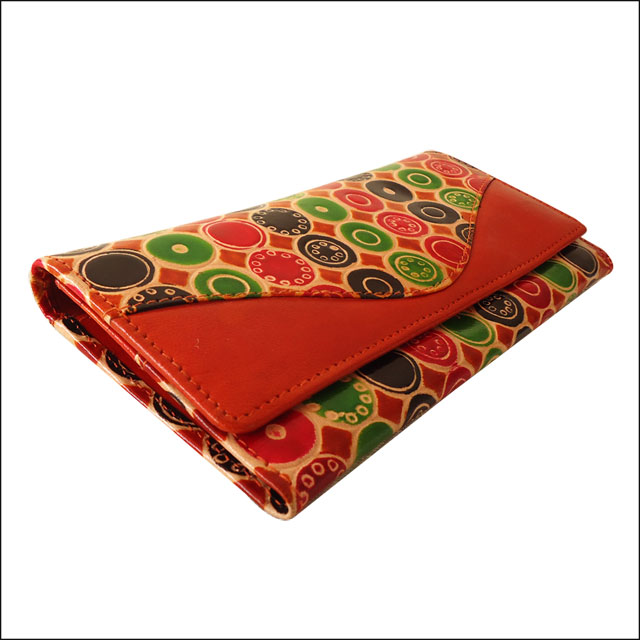 Indian Boho Shantiniketan Leather Wallet