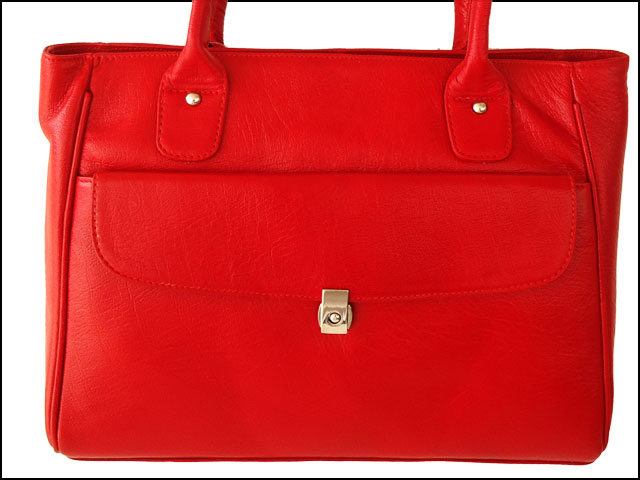 ZINT Genuine Leather Handmade Red Color Shoulder Bag