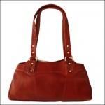 Crimson Red Genuine Leather Purse Shoulder Bag