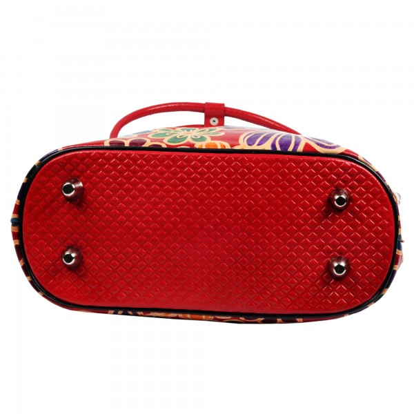 Floral Boho Shantiniketan Leather Bag