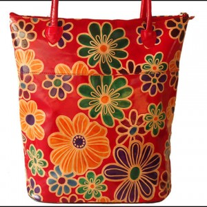 Zint Genuine Leather Shantiniketan Floral Design Shopping Bag