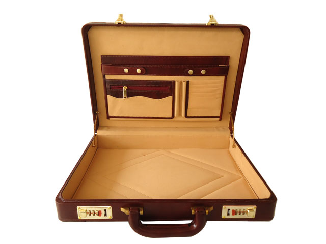 Zint Genuine Leather Handmade Hard Briefcase