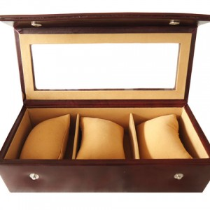 Zint Genuine Leather 3 Slot Watch Case