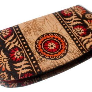 Batik Indian Shantiniketan Leather Wallet