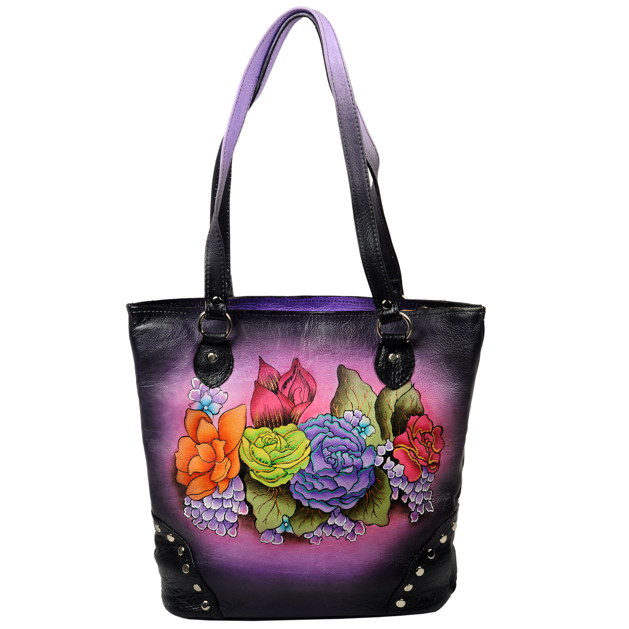 Hand Painted leather bag