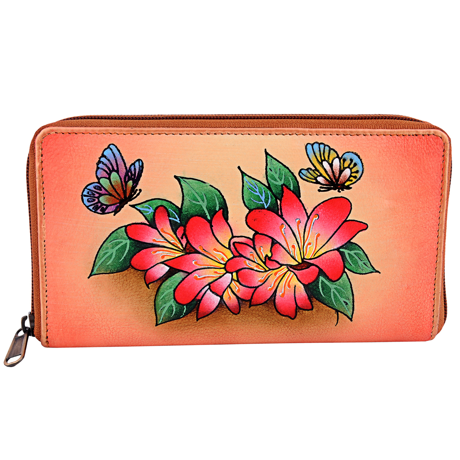 ZINT Hand Painted Leather Women's Wallet