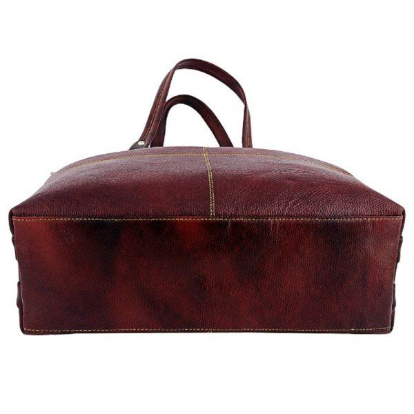 ZINT Genuine Leather Brown Shoulder Bag