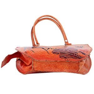 Handmade Shantiniketan Leather bag animal design