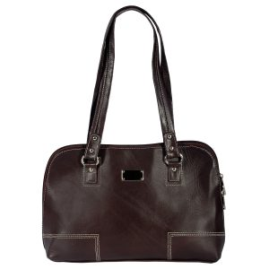 ZINT India Genuine Leather Solid Design Bag