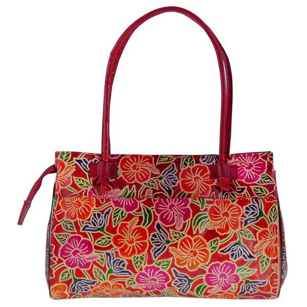 ZINT India Shantiniketan Genuine Leather Floral Design Tote Bag