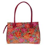 ZINT India Shantiniketan Genuine Leather Floral Design Shoulder Bag