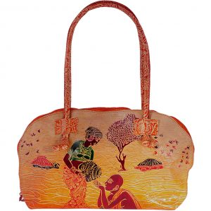 ZINT India Shantiniketan Genuine Leather Human Design Tote Bag
