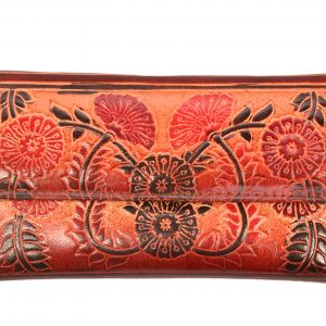 ZINT India Shantiniketan Genuine Leather Floral Design Clutch