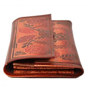 ZINT India Shantiniketan Genuine Leather Floral Design Clutch