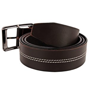 ZINT Genuine Leather Stiching Design Belt