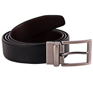 ZINT Genuine Leather Reversible Small Matt Design Belt
