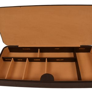 ZINT Genuine Leather Valet Tray/ Desk Organisor