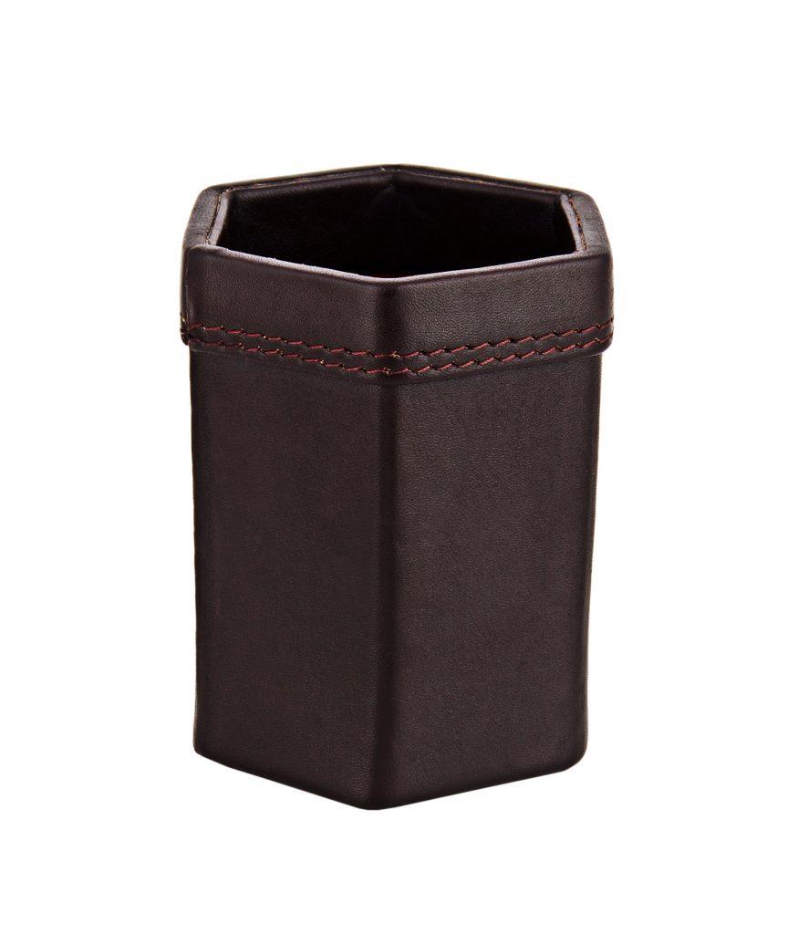 ZINT Genuine Leather Pen Stand/ Desk Organisor