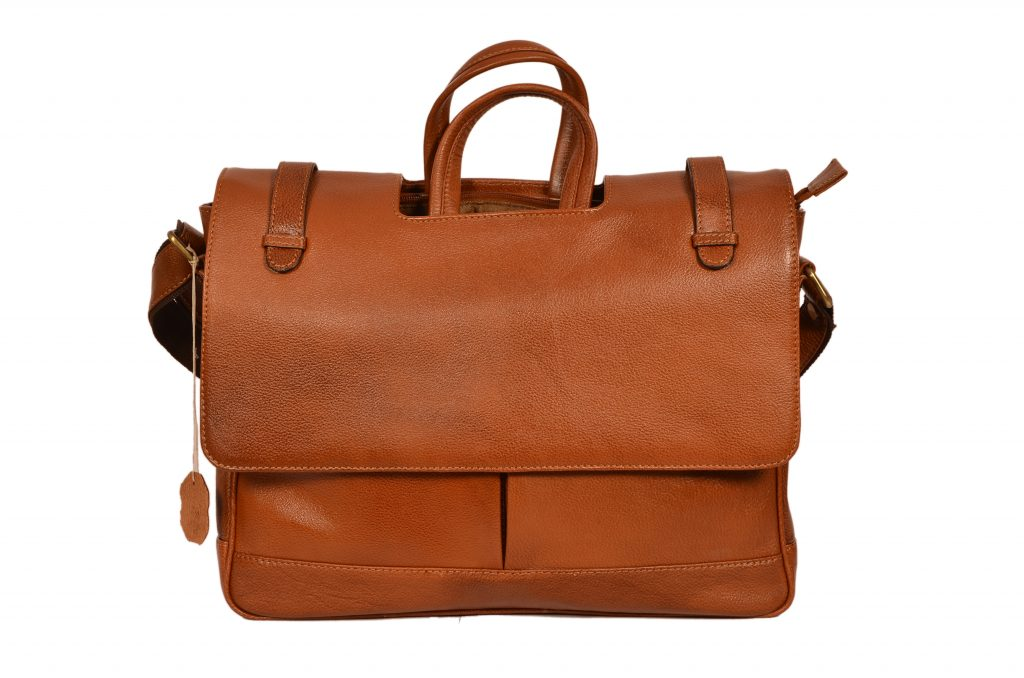 ZINT Genuine Leather Laptop Bag/Messenger Bag