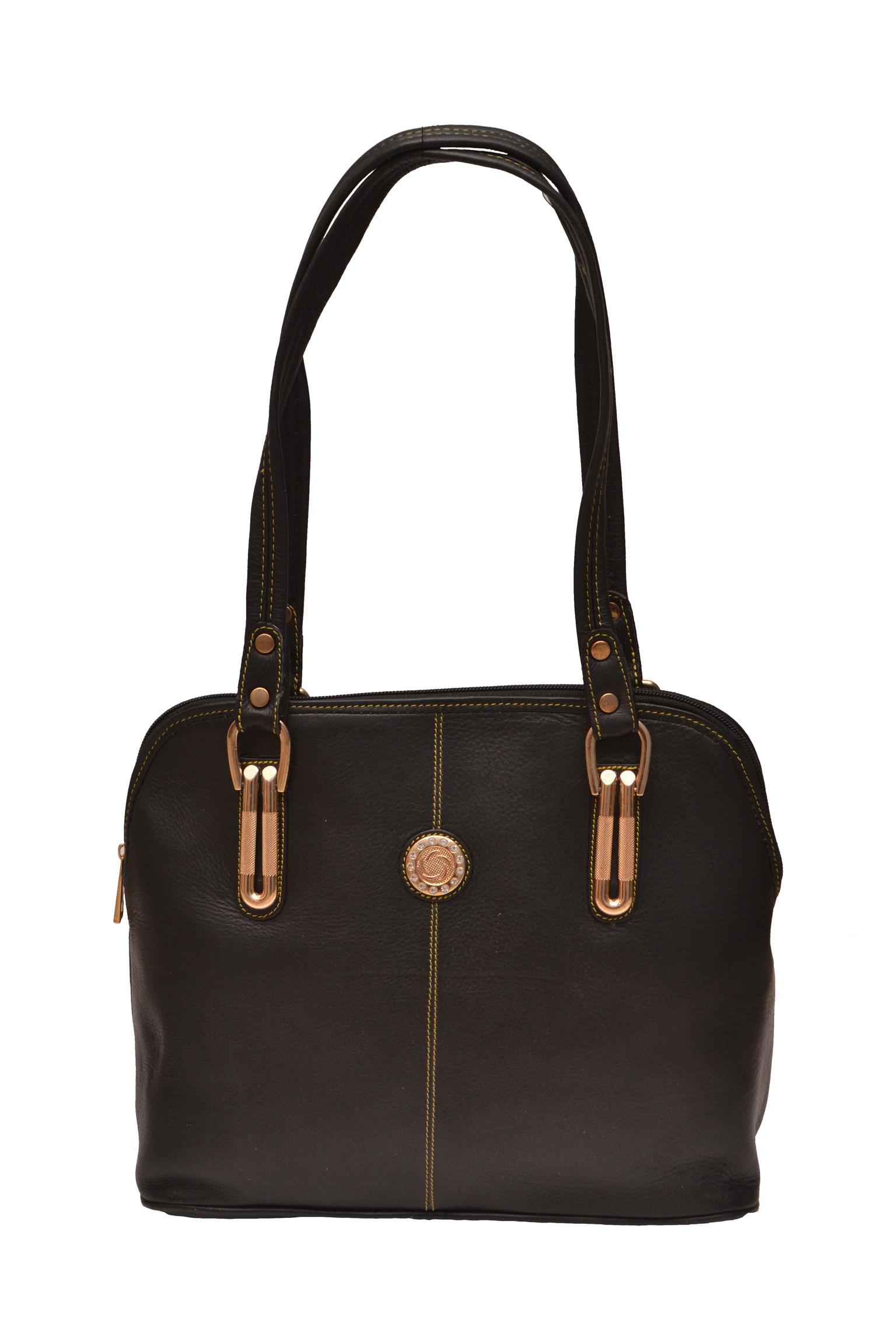 ZINT GENUINE LEATHER BLACK HANDMADE SHOULDER BAG SHOPPING BAG PURSE ... d129410159